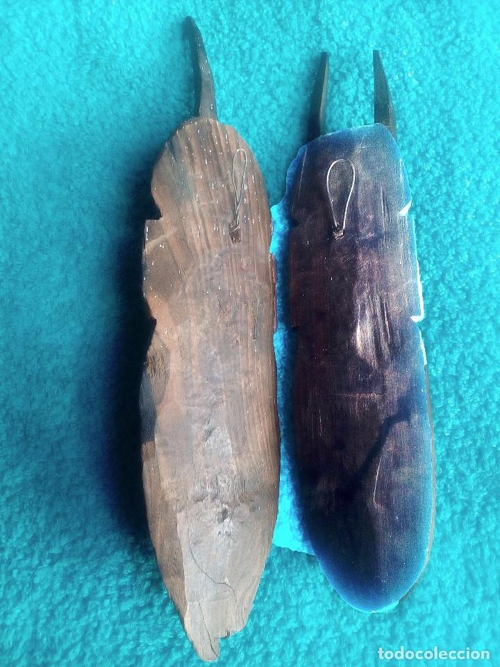 Artesanía: Pareja africana en madera muy antigua (principios del s. XX) - Foto 4 - 180920872