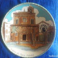 Artesanía: PLATO ESGLÉSIA STA. MARIA MATARÓ / J. CUQUETS ORRIUS BARCELONA / MIDE: 24 CMS. DIÁMETRO. Lote 111512739