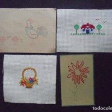 Artesanía: LOTE PUNTO DE CRUZ /POSTAL BORDADO. Lote 181561117