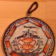 Artesanía: RECUERDO DE CARTAGENA. ADORNO DE PARED EN CERAMICA. Lote 182649440