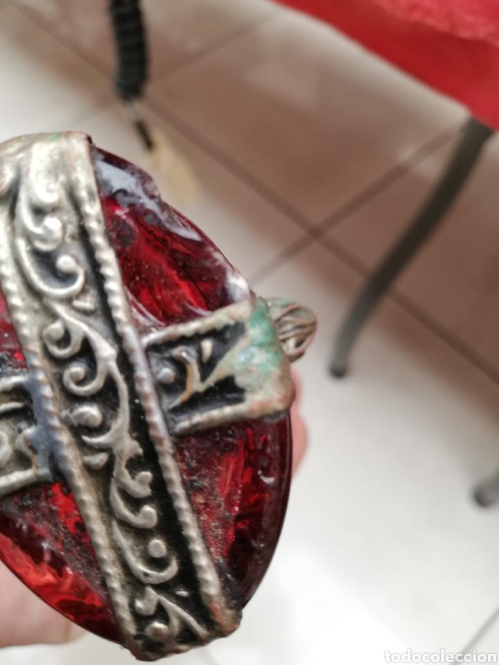 Artesanía: Botella cristal y latón labrado portabela - Foto 4 - 182681211