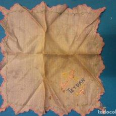 Artesanía: PAÑUELO BORDADO A MANO. RECUERDO DE TETUAN. Lote 183876856