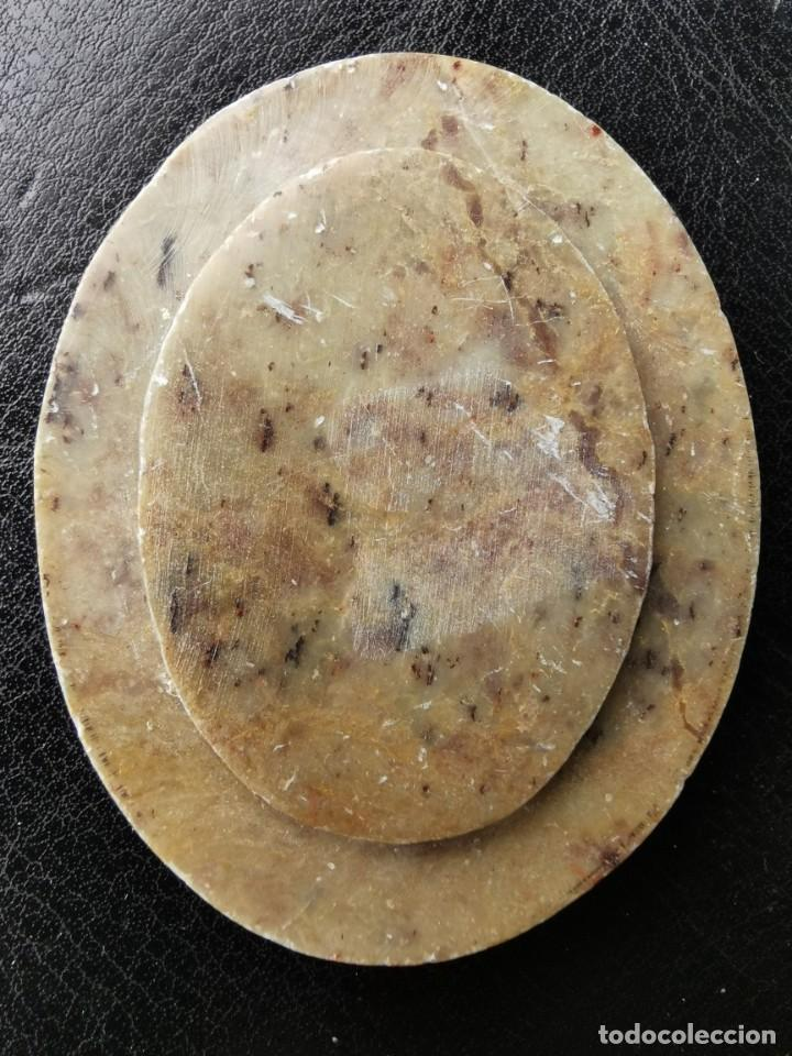Artesanía: Medallon sobre mármol. pintura miniatura india. Siglo XIX - Foto 2 - 106140811