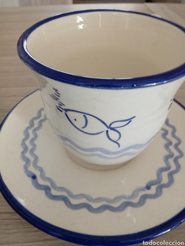Artesanía: Juego de 2 tazas grandes con motivos marinos - Foto 2 - 184718568