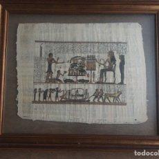 Artesanía: CUADRO CON PAPIRO EGIPCIO. Lote 186378331