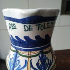 Artesanía: JARRA CE CERÁMICA ESMALTADA Y VIDRIADA EN TONOS AZULES, RECUERDO DE TOLEDO. Lote 187449157