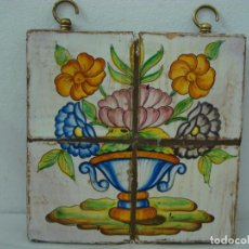 Artesanía: CUADRO DE AZULEJOS ANTUGUOS. Lote 189978367