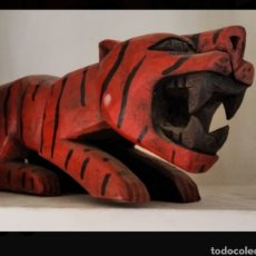 Artesanía: FIGURA TIGRE. Lote 192144047