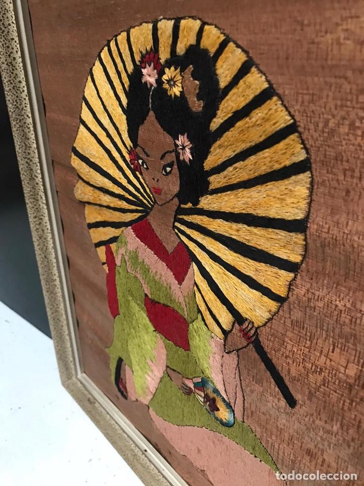 Artesanía: Antigua cuadro de hilo oriental - Foto 4 - 193970988