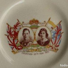 Artesanía: PLATO CORONACION KING GEORGE & QUEEN ELIZABETH 1937 - EMPIRE ENGLAND. Lote 193977526
