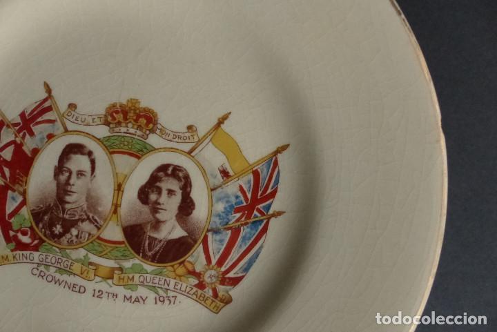 Artesanía: PLATO CORONACION KING GEORGE & QUEEN ELIZABETH 1937 - EMPIRE ENGLAND - Foto 3 - 193977526