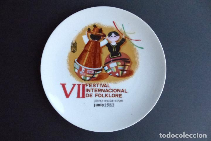 PLATO VII FESTIVAL FOLKLORE - BURGOS 1983 (Artesanía - Hogar y Decoración)