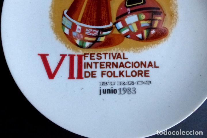 Artesanía: PLATO VII FESTIVAL FOLKLORE - BURGOS 1983 - Foto 2 - 193977590