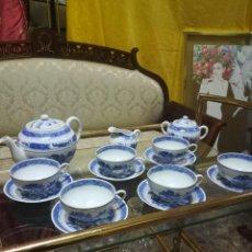 Artesanía: JUEGO DE CAFE DE PORCELANA CHINA DE MACAU. Lote 194604993