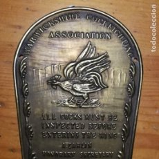 Artesanía: ANTIGUA PLACA DE COBRE DE PUBLICIDAD 12 X 8,5 INGLESA. Lote 194975226