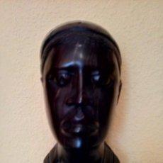 Artesanía: BUSTO DE MADERA AFRICANO HOMBRE. Lote 195303521