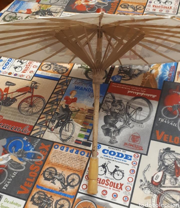 Artesanía: Sombrilla escena oriental parasol paragua papel madera 48 cm diámetro - Foto 7 - 195494733