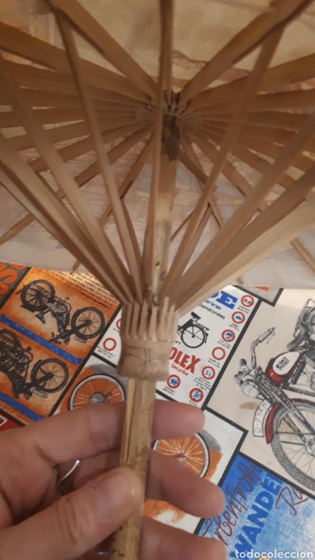 Artesanía: Sombrilla escena oriental parasol paragua papel madera 48 cm diámetro - Foto 8 - 195494733