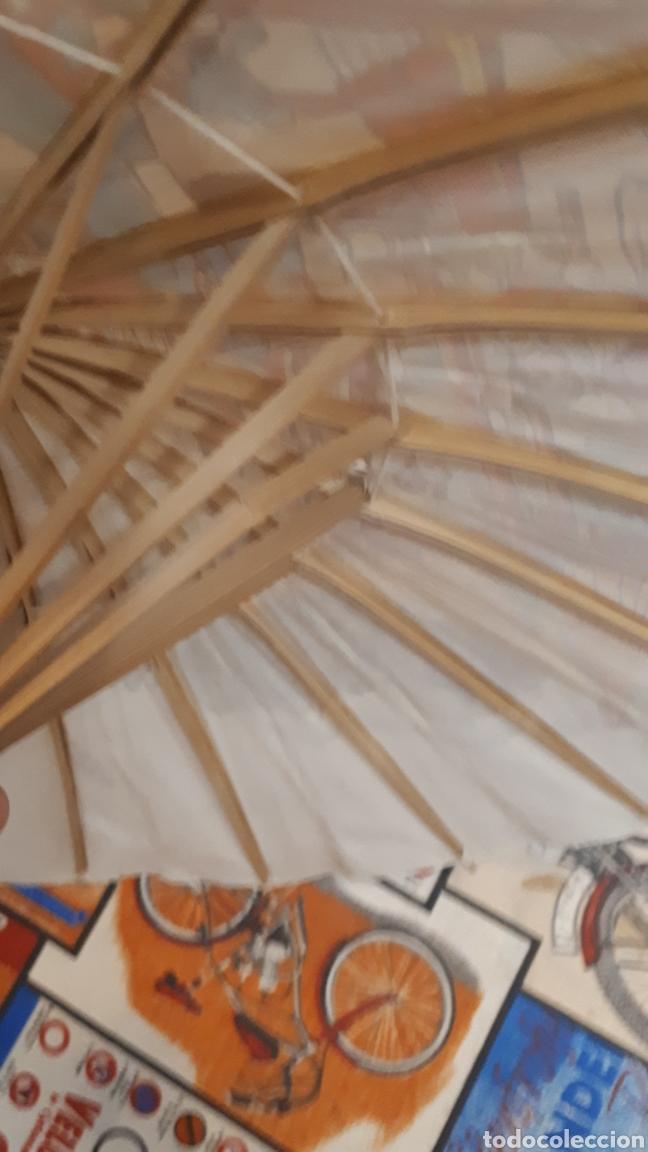 Artesanía: Sombrilla escena oriental parasol paragua papel madera 48 cm diámetro - Foto 9 - 195494733