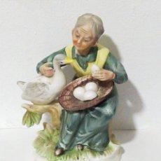 Artesanía: ANTIGUA FIGURA EN BISCUIT 16CM. Lote 196534857