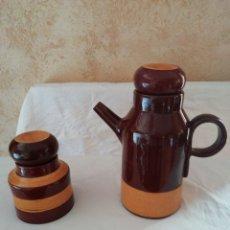 Artesanía: CHOCOLATERA Y AZUCARERO. Lote 198114627
