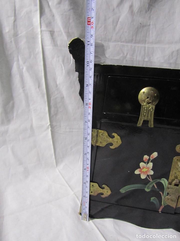 Artesanía: Joyero grande de madera pintado a mano fabricado en China, 6 cajones, 6 kg de peso - Foto 3 - 198155880