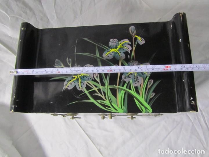 Artesanía: Joyero grande de madera pintado a mano fabricado en China, 6 cajones, 6 kg de peso - Foto 5 - 198155880