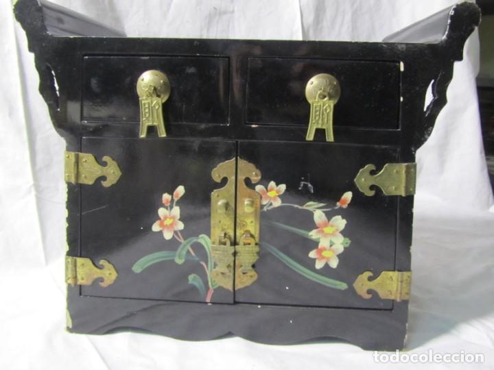 Artesanía: Joyero grande de madera pintado a mano fabricado en China, 6 cajones, 6 kg de peso - Foto 9 - 198155880