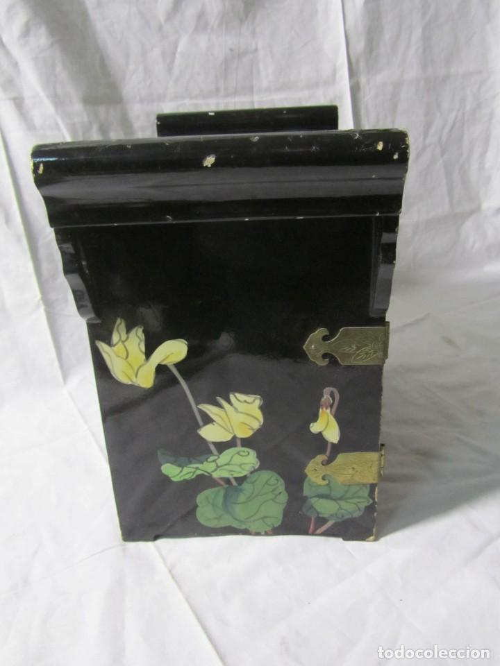 Artesanía: Joyero grande de madera pintado a mano fabricado en China, 6 cajones, 6 kg de peso - Foto 18 - 198155880