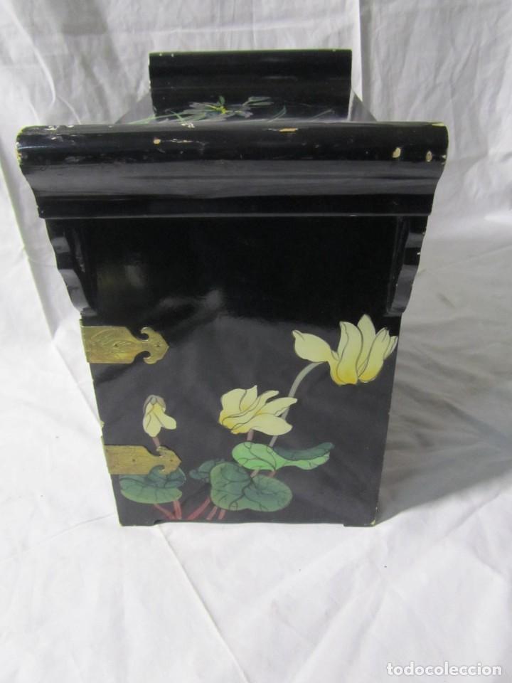 Artesanía: Joyero grande de madera pintado a mano fabricado en China, 6 cajones, 6 kg de peso - Foto 21 - 198155880