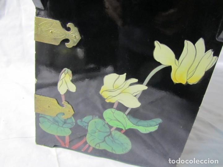 Artesanía: Joyero grande de madera pintado a mano fabricado en China, 6 cajones, 6 kg de peso - Foto 22 - 198155880