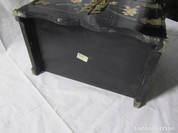 Artesanía: Joyero grande de madera pintado a mano fabricado en China, 6 cajones, 6 kg de peso - Foto 23 - 198155880