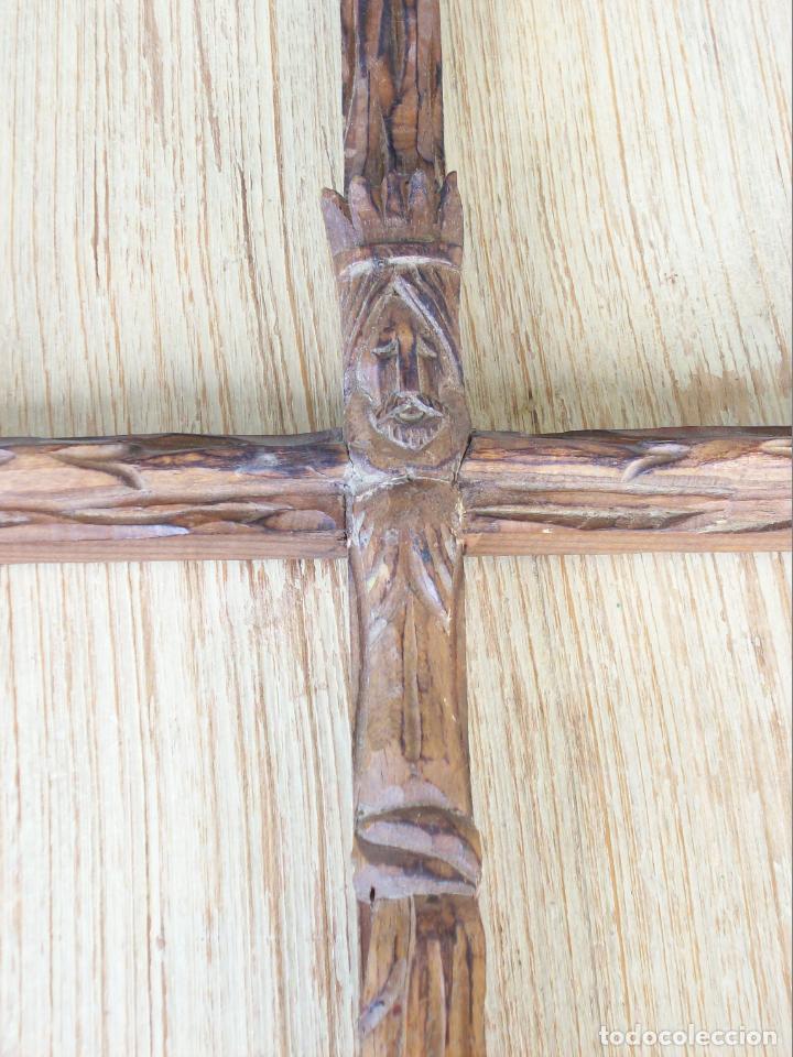 Artesanía: CRUCIFIJO . CRISTO EN LA CRUZ . TALLA DE MADERA 60 CM. ALTURA - Foto 8 - 198506862