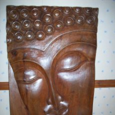 Artesanía: BONITA TALLA ORIENTAL EN MADERA DE BUDA .. Lote 198942891