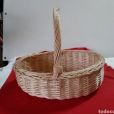 Artesanía: CESTA DE MIMBRE. Lote 200059571
