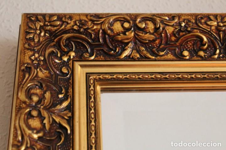 Artesanía: Espejo con marco dorado tema floral - Foto 2 - 182125783