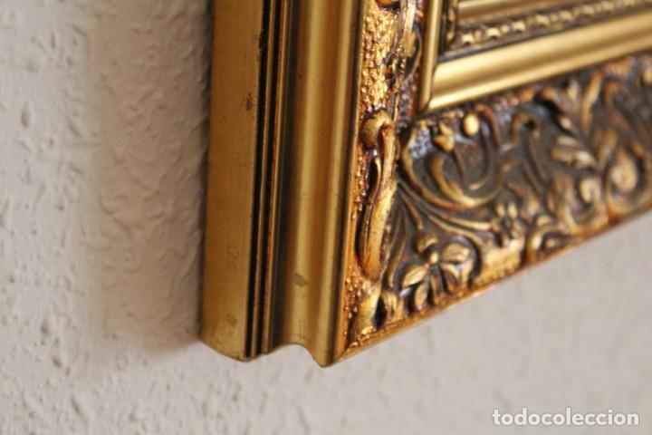 Artesanía: Espejo con marco dorado tema floral - Foto 3 - 182125783