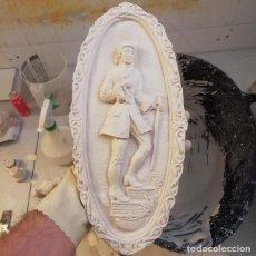 Artesanía: RELIEVE PARISINO DE 36 X 16 CM. FIGURA DE ESCAYOLA PARA PINTAR. Lote 203181481