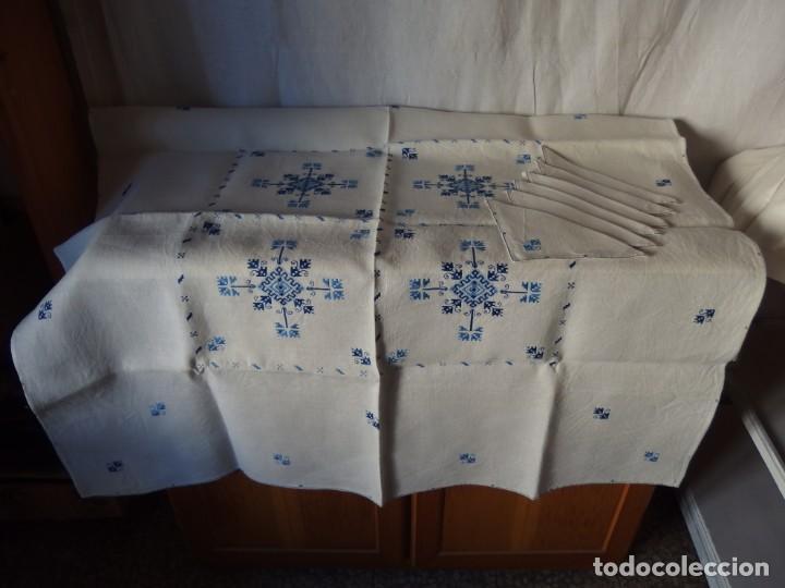 MANTEL DE HILO BORDADO LAGARTERA (Artesanía - Hogar y Decoración)
