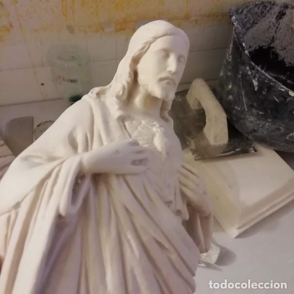Artesanía: SAGRADO CORAZÓN DE 30 CM. FIGURA DE ESCAYOLA PARA PINTAR - Foto 4 - 238864025
