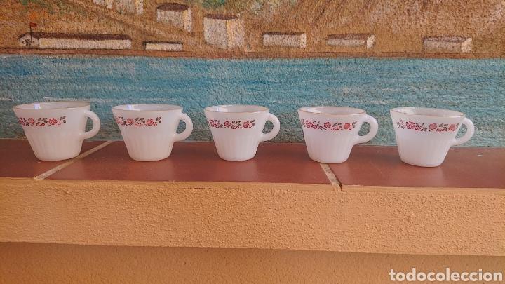 VAJILLA 5 TAZAS TERMOCRISA. HECHAS EN MÉXICO. MUY BIEN CONSERVADAS (Artesanía - Hogar y Decoración)
