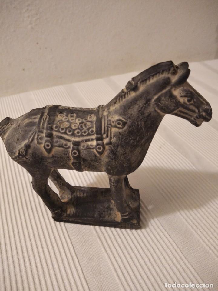 Artesanía: Guerreros de siam. Interesante lote de 5 figuras . Arcilla negra o terracota - Foto 16 - 208977568
