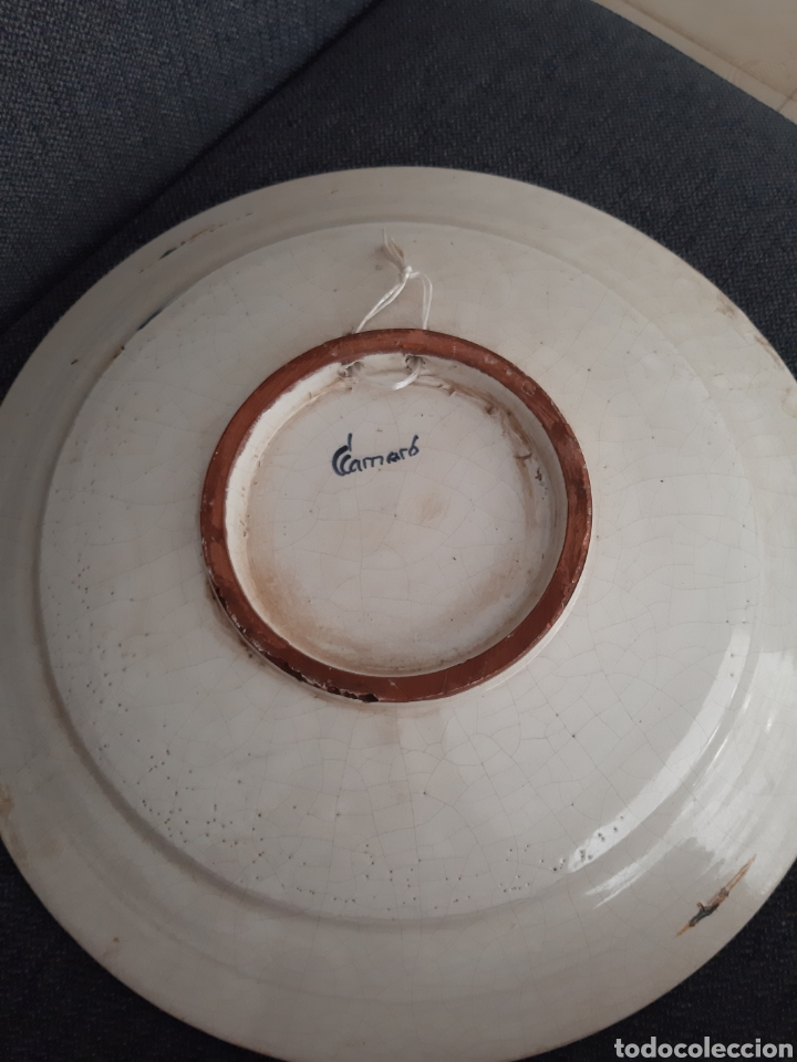 Artesanía: Plato ceramica catalana Camaró s XX - Foto 2 - 210462945