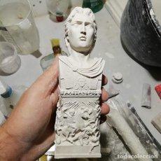 Artesanía: BUSTO ALEJANDRO MAGNO BATALLA DE GRÁNICO DE 19 CM. FIGURA DE ESCAYOLA PARA PINTAR. Lote 254928045