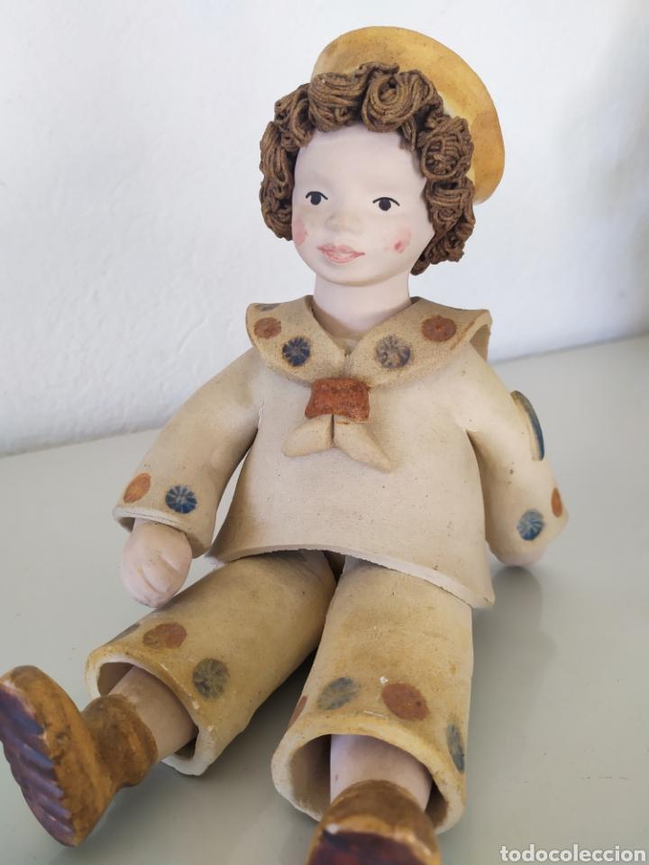 Artesanía: Figura escultura cerámica terracota figurita marinero muñeco - Foto 2 - 211485081