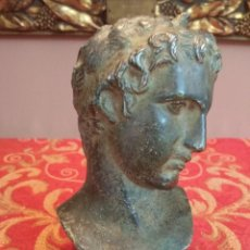 Artesanía: CABEZA DE HOMBRE MARATON REPRODUCCION GRECIA/ROMA/POMPEYA VINTAJE AÑOS 70. Lote 213377131