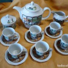 Artesanía: JUEGO DE CAFE DISEÑO DE MARISCAL 1993. Lote 215943572