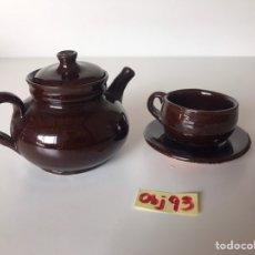 Artesanía: JARRA Y TAZA ARTESANAL. Lote 217912883