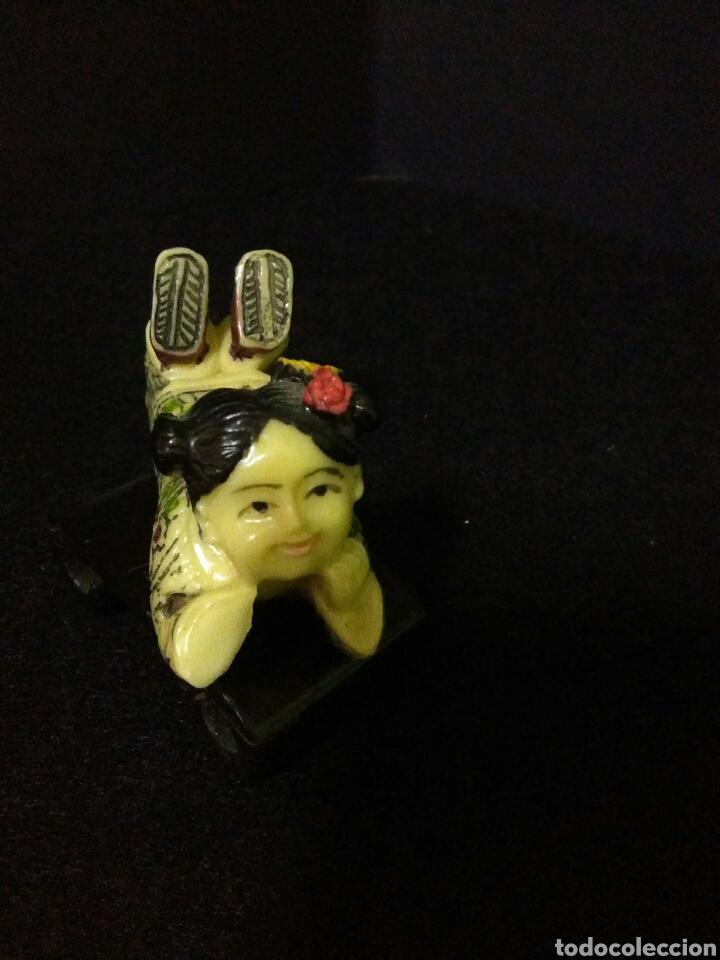 Artesanía: Figura china siglo XX niña reposando , - Foto 2 - 219469175