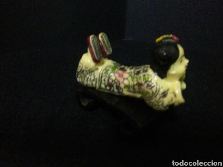 Artesanía: Figura china siglo XX niña reposando , - Foto 8 - 219469175